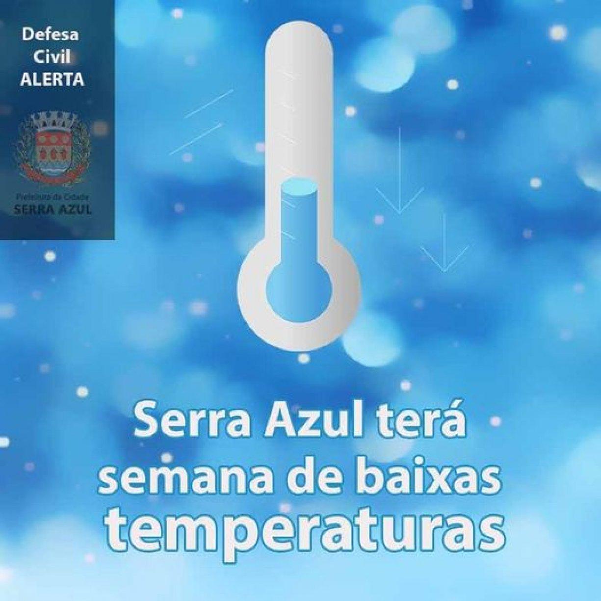 Defesa Civil de Serra Azul alerta para a frente fria em nossa região
